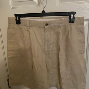 Mint! BROOKS BROTHERS 100% Linen Shorts Men's 36